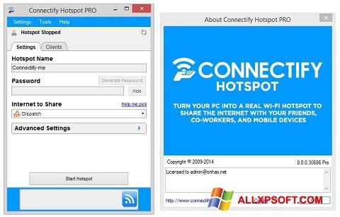 스크린 샷 Connectify Hotspot Windows XP
