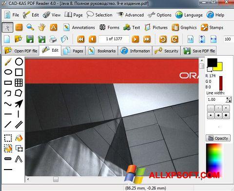 스크린 샷 PDF Reader Windows XP