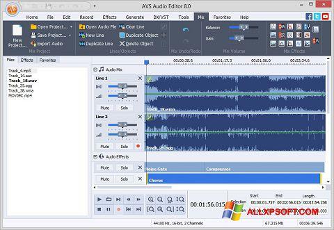 스크린 샷 AVS Audio Editor Windows XP