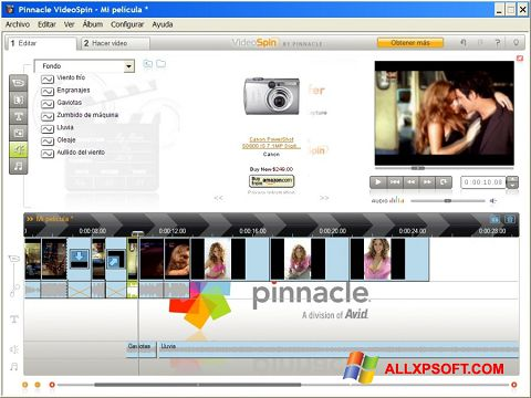 스크린 샷 Pinnacle VideoSpin Windows XP