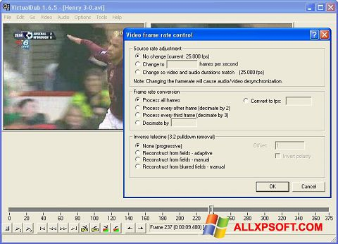스크린 샷 VirtualDubMod Windows XP