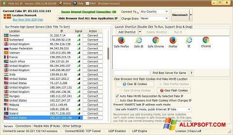 스크린 샷 Hide ALL IP Windows XP
