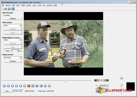 스크린 샷 Avidemux Windows XP