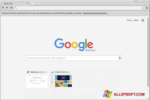 스크린 샷 Google Chrome Windows XP