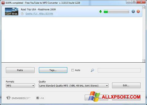 스크린 샷 Free YouTube to MP3 Converter Windows XP