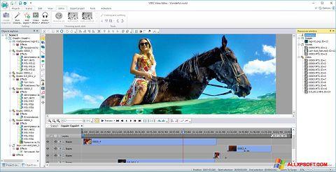 스크린 샷 Free Video Editor Windows XP