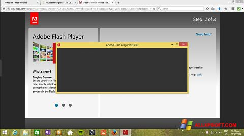 스크린 샷 Adobe Flash Player Windows XP