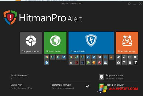 스크린 샷 HitmanPro Windows XP