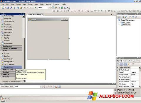 스크린 샷 Microsoft Visual Studio Windows XP