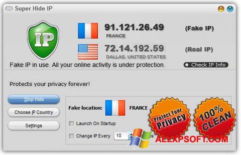 스크린 샷 Super Hide IP Windows XP