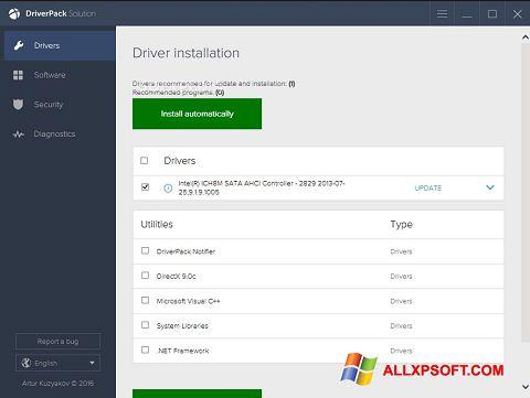 스크린 샷 DriverPack Solution Windows XP