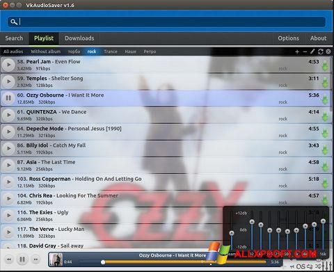 스크린 샷 VkAudioSaver Windows XP
