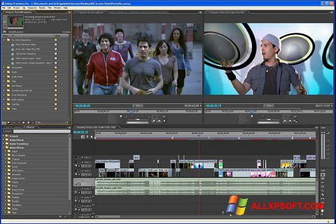 스크린 샷 Adobe Premiere Pro Windows XP