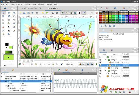 스크린 샷 Synfig Studio Windows XP