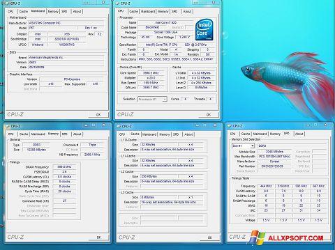 스크린 샷 CPU-Z Windows XP