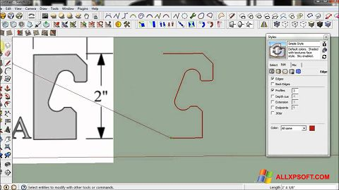 스크린 샷 SketchUp Windows XP