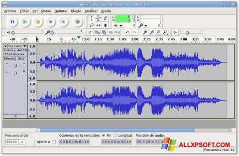 스크린 샷 Audacity Windows XP
