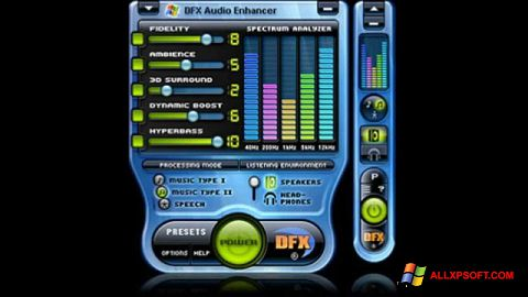 스크린 샷 DFX Audio Enhancer Windows XP