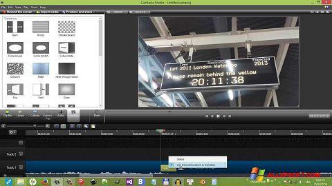 스크린 샷 Camtasia Studio Windows XP