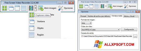 스크린 샷 Free Screen Video Recorder Windows XP