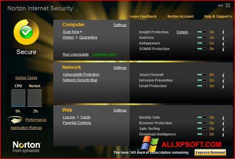 스크린 샷 Norton Internet Security Windows XP