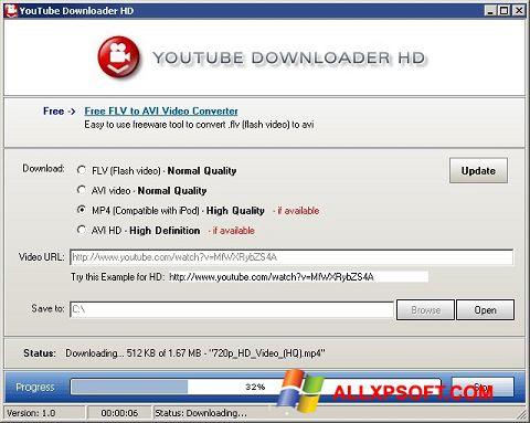 스크린 샷 Youtube Downloader HD Windows XP