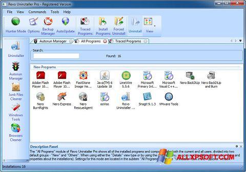 스크린 샷 Revo Uninstaller Pro Windows XP